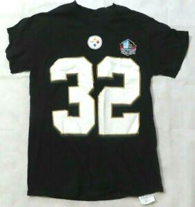 Majestic Black Pittsburgh Steelers Franco Harris 32 Shirt Hall of Fame Mens S