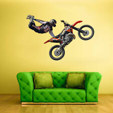 Full Color Wall Decal Sticker Bike Motocross Jump Motocycle Dirt Moto (Col645)