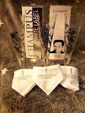 Ritzenhoff CHAMPUS WHITE LABEL 3ER Set mit Stoffservierten
