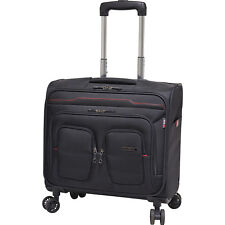 """Travelers Club Luggage 17"""" Flex-File Rolling Spinner Softside Carry-On"""