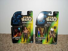 2 HASBRO--STAR WARS POWER OF THE FORCE--MALAKILI & LEIA FIGURES (NEW)