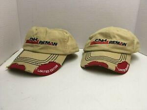 """2 CNH Reman Cap Hats Limited Edition 100% Cotton """"Reborn not Rebuilt"""" One Size"""