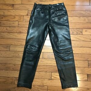Prada Black Leather Pants Made in Italy