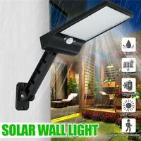 48-LED Solar Dimmable Wall Street Light PIR Motion Sensor Outdoor Garden Lamp US