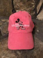 Walt Disney World Mickey Mouse Pink Baseball Cap Hat