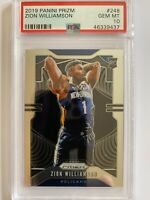 2019-20 Panini Prizm Base #248 Zion Williamson Pelicans Rookie PSA 10 GEM MT