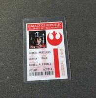 Star Wars Id Badge-Galactic Republic Wedge Antilles Pilot prop cosplay costume