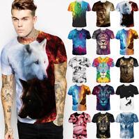 Fashion Wolf Lion Animal 3D Print Women Men Casual T shirt Short Sleeve Tee Tops