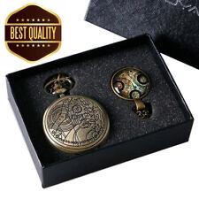 Reloj de Bolsillo réplica Retro Vintage Bronce médico que con Cadena Colgante