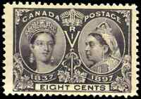 Canada #56 mint F-VF OG LH 1897 Queen Victoria 8c dark violet Diamond Jubilee