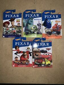 Hot Wheels Disney Pixar Set Of 5. NEW 2020
