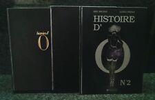 CURIOSA. CREPAX. REAGE HISTOIRE D'O ( 1& 2 ) EDITION ORIGINALE NUMÉROTÉE