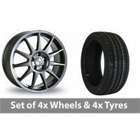 "4 x 18"" Speedline Turini Anthracite Alloy Wheel Rims and Tyres -  215/35/18"