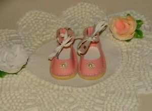 """Fit 15"""" Ruby Red Fashion Friends Dolls ~Handmade Pink Leather Shoes~ RRFF #15"""