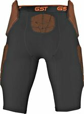 Wilson Football Girdle GST 5-Pad Compression Padded Pants Adult: XL Black Brown