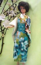 OOAK Handmade Kimono clothing for Barbie Koi Pond Fish Japanese Garden and Obi