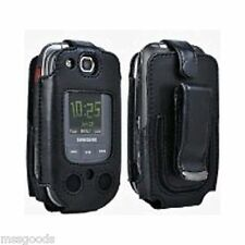 Leather Verizon Samsung U660 Convoy 2 Belt Clip Revolving Holster Fitted Case