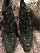 Free People Black Leather/Suede Boots Straps/Buckles!! HOT!! Size 39/Fits 8