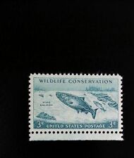 1956 3c King Salmon, Wildlife Conservation Scott 1079 Mint F/VF NH