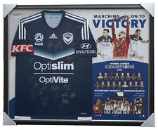 Melbourne Victory 2018 A-League Champions Signed Team Jersey Framed + GIFT
