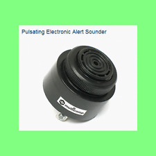 Pulsing Piezo Mini Alarm, 80db Loud, Panel Mount Screw Terminals 12VDC 9V DC 6V