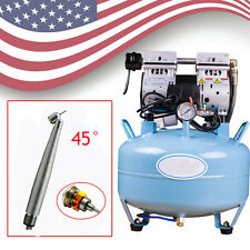 USA Medical Noiseless Oil Free Oilless Air Compressor For dental chair 30L 550W