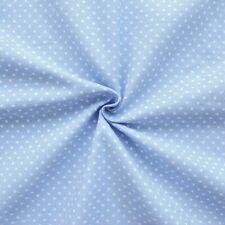 weicher Feincord Baumwollstoff Punkte klein Hell Blau 145cm breit Meterware