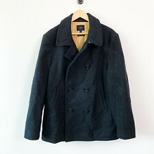 J Crew Baysweater peacoat jacket wool cotton mens size large quilted lined coat