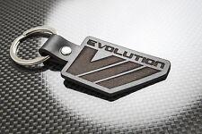 Mitsubishi EVO 7 Leather Keyring Schlüsselring Porte-clés Evolution VII Lancer