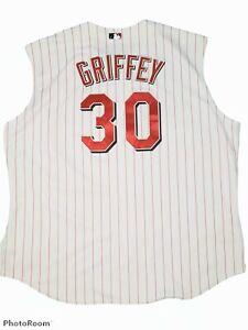 Ken Griffey 1999 Cincinnati Reds Home White Vest Jersey Men's Size 60 - 4XL