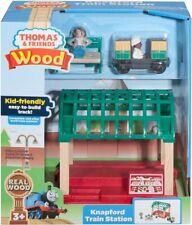Thomas and Friends Wood Railway 8 Pc Set NEW Knapford Train Station FREE SHIP !