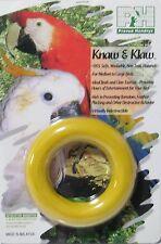 "Prevue Hendryx KNAW & KLAW #6100 3 1/4"" RUBBER RING Bird Foot CHEW Toy Yellow"