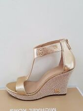 MICHAEL Michael Kors Women's Espadrille Leather Wedge Sandal Size 7 NIB