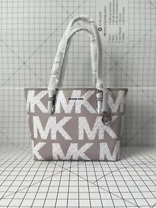 Michael Kors Jet Set Travel Medium Signature MK Graphic Logo Tote Shoulder Bag