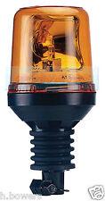 12V/24V DIN POLE STEM FLEXI SPIGOT MOUNT ROTATING FLASHING ORANGE/AMBER BEACON