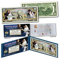 Royal Wedding OFFICIAL ROYAL PORTRAITS Prince Harry & Meghan Markle $2 US Bill