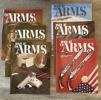 LOT 6 MAN AT ARMS Magazines Complete Year 1981 RIFLE HANDGUN SHOOTING SWORD NRA