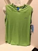 Asics Women's Diamond Mesh Tank Green NEW