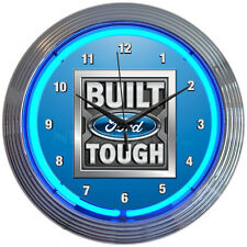 Built Ford Tough Neon Clock New Wall Clock Neonetics