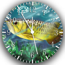 Arowana Fish Frameless Borderless Wall Clock Nice For Gifts or Decor W208