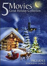NEW  DVD - 5 MOVIES - CHRISTMAS WITHOUT SNOW + SCROOGE + HOLIDAY TO REMEMBER +2
