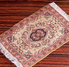 DOLLHOUSE RUG MINIATURE CARPET SMALL MINI FURNITURE TOY 4X6 1:12 PERSIAN BEIGE