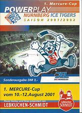 Mercure Cup 2001 Programm:Nürnberg Ice Tigers, Oberhausen, HC Lugano,HC Litvinov