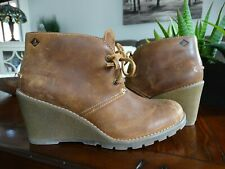 SPERRY Top Sider Celeste Prow Ankle Wedge Bootie 7