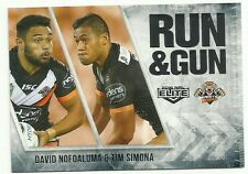 2016 NRL ELITE RUN & GUN WESTS TIGERS DAVID NOFOALUMA TIM SIMONA RG31 CARD