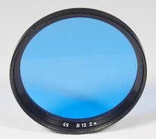 B + W ø49mm azul filtro Filtro Blue Bleu filtre b12 2x color filtros de color - (42061)