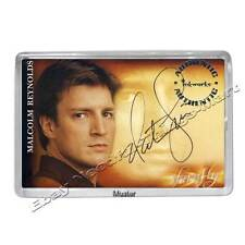 Nathan Fillion / Captain Malcolm in Firefly Autogramm - Fotomagnet 5mm Acryl