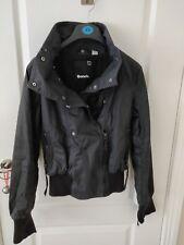 Ladies Black Bench Coat Jacket S Small 10 12
