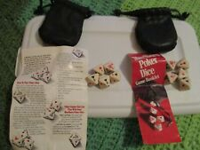 2 Vintage Marlboro Poker Dice Games,Each With Leather Pouch & Game Booklet