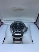 Cartier Pasha Seatimer Unisex Automatic Swiss Watch Stainless Steel 2790 40mm